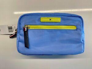 NWT Tommy Hilfiger Blue Large Cosmetic Make up Bag Case