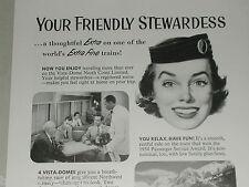 1955 Northern Pacific RR ad, Stewardess-Nurse