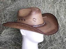 """CHARLIE 1 HORSE """"COMANCHE"""" PALM COWBOY WESTERN HAT"""