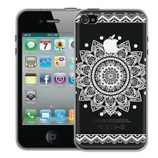 Protective Case Apple IPHONE 4 4S Case Silicone Phone Case Mandala Cover