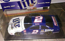 RUSTY WALLACE #2 MILLER LITE TEXAS 1997 FORD THUNDERBIRD 1/24 NASCAR BANK