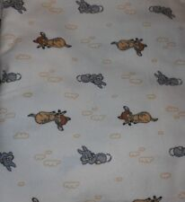 "NEW UNCUT FLANNEL FABRIC 3 YARDS 15"" X 42"" WIDE SWEET DREAMS BAMBI THUMPER"