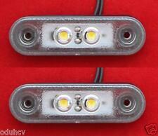 2x LED FLUSH Weiß MARKIERUNGSLICHT BULL/RAMMSCHUTZ OFFROAD 12V/24V DREIRAD AUTO
