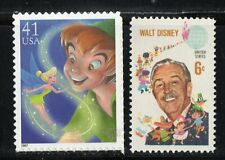 PETER PAN AND TINKER BELL + WALT DISNEY * US POSTAGE STAMP MINT