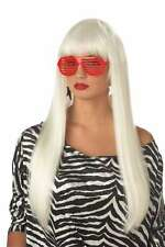 Wig Platinum Blonde Long Straight Synthetic Hair Pop Angel Wig With Bangs