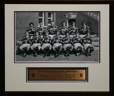 1972 Manly Team Photo signed by Bob Fulton Framed Photo Proof