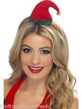 Christmas Santa's Little Helper Mini Elf Hat On Headband With Bell Fancy Dress