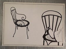 Carte postale Morel Pierres Yves,chaise fer forgé, chaussure, pied   CPSM