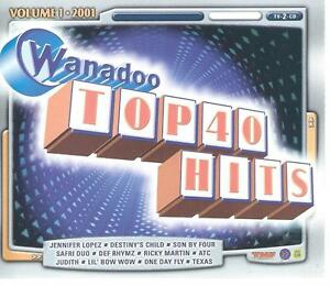 2 CD set - WANADOO / TMF - TOP 40 HITS - SON BY FOUR SAFRI DUO LIL BOW WOW
