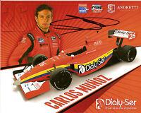 2013 TONY KANAAN signed TURBO INDIANAPOLIS 500 PHOTO CARD POSTCARD INDY CAR wCOA