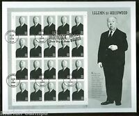 UNITED STATES  1998 LEGENDS OF HOLLYWOOD ALFRED HITCHCOCK  FULL SHEET ON FDC