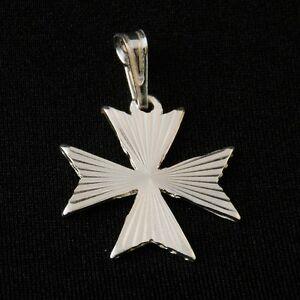 30%Off Genuine Sterling Silver 925 Maltese Malta Amalfi Cross Pendant Nice Gift