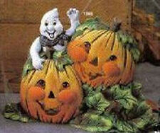 Ceramic Bisque Ready to Paint Ghost & Pumpkins electric included