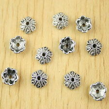 45pcs Tibetan silver sunflower beads cap h2741