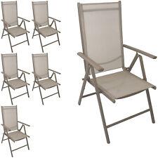 Garten Hochlehner Positionsstuhl Textilen 7-Positionen verstellbar Champagner 6x