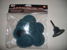 """10 Piece Iit 2"""" Surface Prep Pad- Fine With Mandrel"""