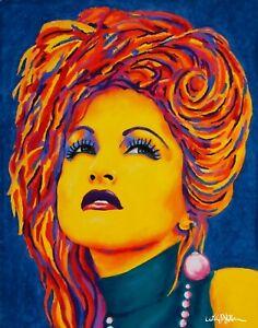 "NEW! Cyndi Lauper art poster/ print, 12 x 15"", from orig. artwork by Alisa Meier"