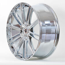 4 GWG Wheels 22 inch Chrome FLOW Rims fits 5x114.3 FORD MUSTANG 2005 - 2014