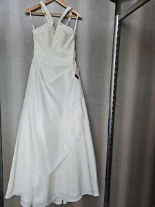 💜Hochwertiges Brautkleid Lohrengel Pailletten Perlen Gr. 34 NEU m. Etikett 💜