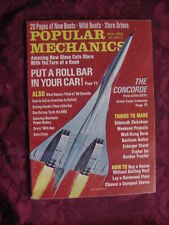 POPULAR MECHANICS magazine March 1968 CONCORDE SST Roll Bars Chevy Chevelle