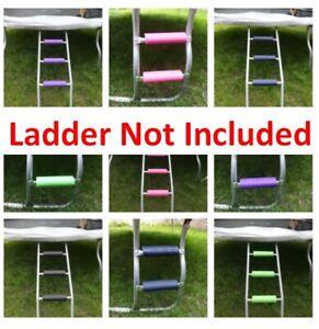 TRAMPOLINE/Outdoor Ladder Rung Pads- No-Tool Install, Secure,NonSlip,Waterproof!
