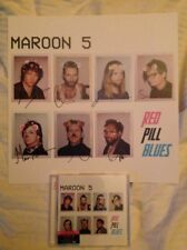"""MAROON 5 """"RED PILL BLUES"""" DELUXE DOUBLE CD + SIGNED LITHO BRAND NEW / NEUF"""