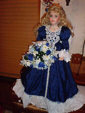 """Denise McMillan 34"""" tall Angelica porcelain doll w/coa Masterpiece Gallery"""