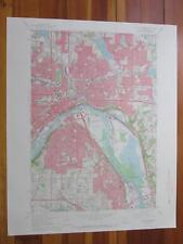 Saint Paul East Minnesota 1969 Original Vintage USGS Topo Map