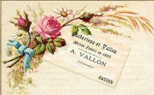 Carte Visite Pub Maison A VALLON à SAUJON Bijouterie Joaillerie Horlogerie
