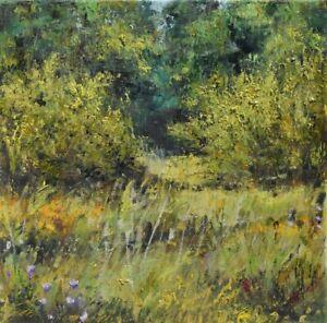 "Zakątek"" Original Oil Painting 30x30cm signed Garncarek Al,,"
