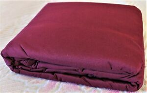 NEW FULL SIZE FUTON MATTRESS COVER  .Burgundy color .Woven Polyester. 3 side zip