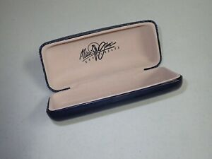 Vintage Maui Jim Sunglasses Case Dark Blue Protective Hard Clamshell