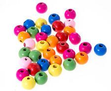 20 perles en bois brillant 10mm couleur mixte 10 mm Attache tetine, bracelet...
