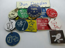 Lot of Square Dance Fun Dangles Pin with Plastic Discs for Dance Clubs 1990-91