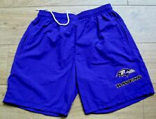 """Baltimore Ravens New Sports or Casual Shorts,Pockets,Purple 36""""Waist,Embroidered"""