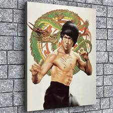 """Bruce Lee Painting HD Canvas prints Home Decor Room Wall art Picture 24""""x30"""""""
