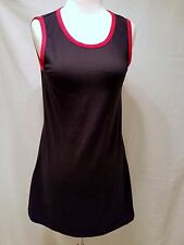 J&ANS  DOLCE & GABBANA SLEEVELESS TANK DRESS BLACK W/ RED PIPING 28/42