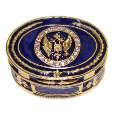 Réplique Tabatière Fabergé - Boite collection Aigle russe - Boite tabac Fabergé
