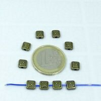 95 Entrepiezas / Abalorios 6mm T289X  Cobre Perline חרוזים Perlen Copper Beads