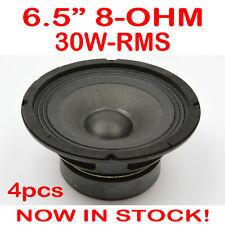 "4x 6.5"" 30WRMS 8 Ohms PA DJ Speaker Subwoofer Woofer Sub Driver 6.5 Inch Quality"