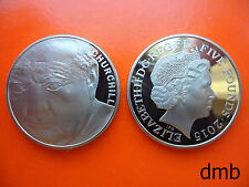 2015: 50th Anniversary of the Death of Winston Churchill £5 PROOF Coin: 5 Pound