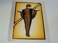 OLIVIA DE BERARDINIS GREETING O CARD VINTAGE 1984 ART SHEER MODEL HEELS