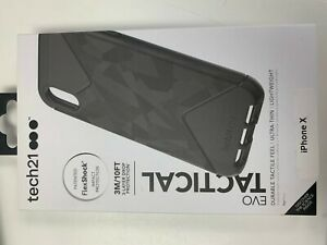 Tech21 Evo Check Series Case for Apple iPhone Xs and iPhone X - Smokey/Black