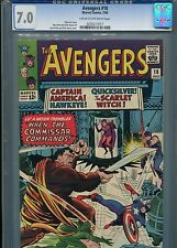 Avengers #18    (Captain America)   CGC 7.0  C-OWP