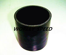 Black 2.5'' 63mm ID Silicone Straight Joiner Coupling Hose Pipe LH 3'' 76MM