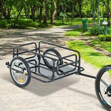 Wanderer Folding Bicycle Bike Cargo Storage Cart and Luggage Trailer with S5P2