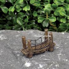 Miniature  Micro Suspension Bridge GO 17428  Fairy Garden Dollhouse Terrarium