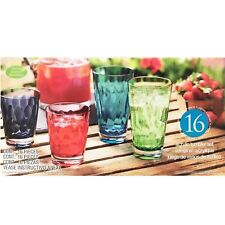 16pc Coloured Acrylic Tumbler 2 Sizes Strong Durable Outdoors Picnic Garden
