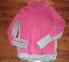 LULULEMON ivivva PRACTICE JACKET pink violet PIQUE ACCENTS SIZE 14 PILE LINING