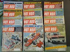 HOT ROD  Magazine---Lot of 12 Magazines -- Entire Year 1968